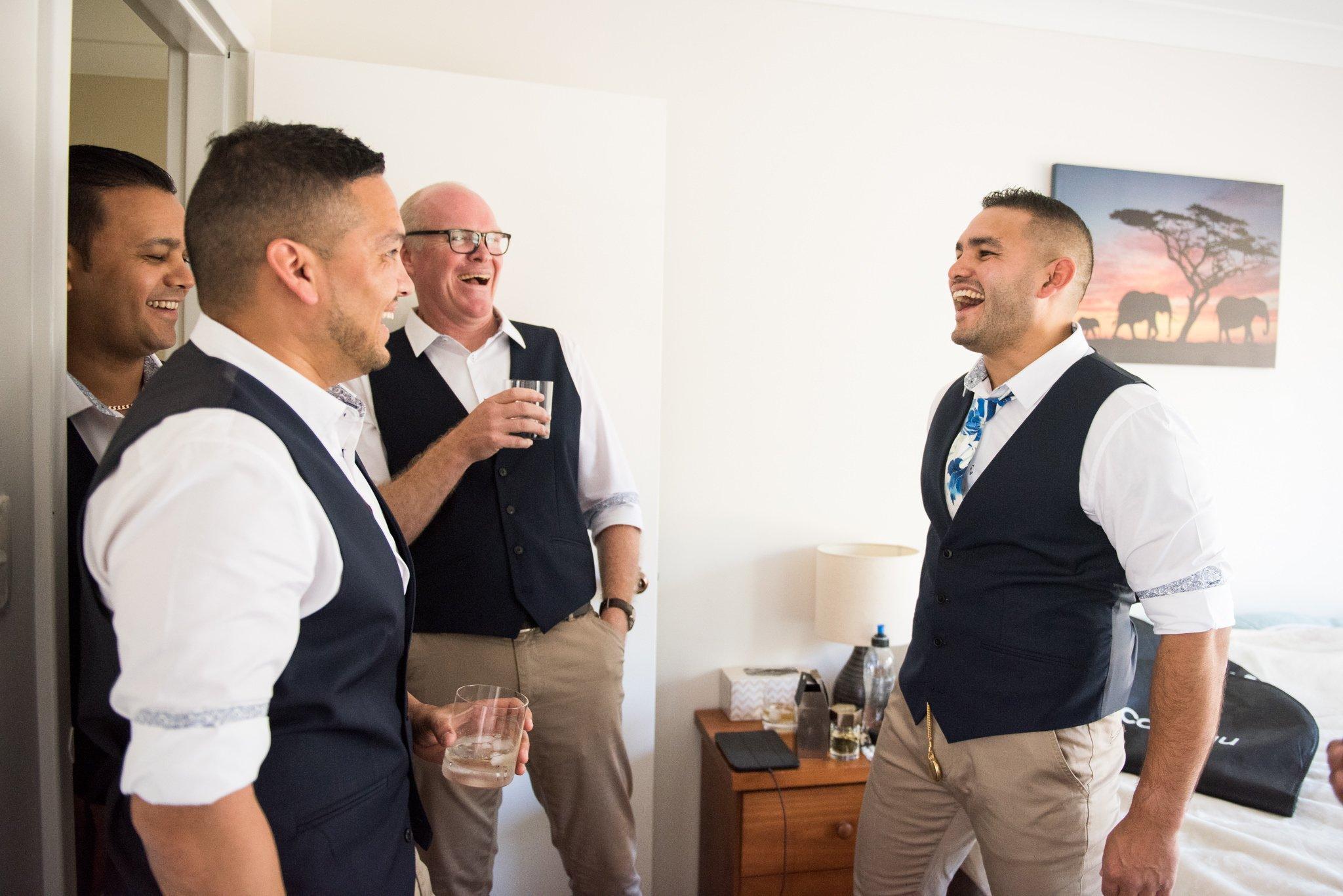 groomsmen getting ready
