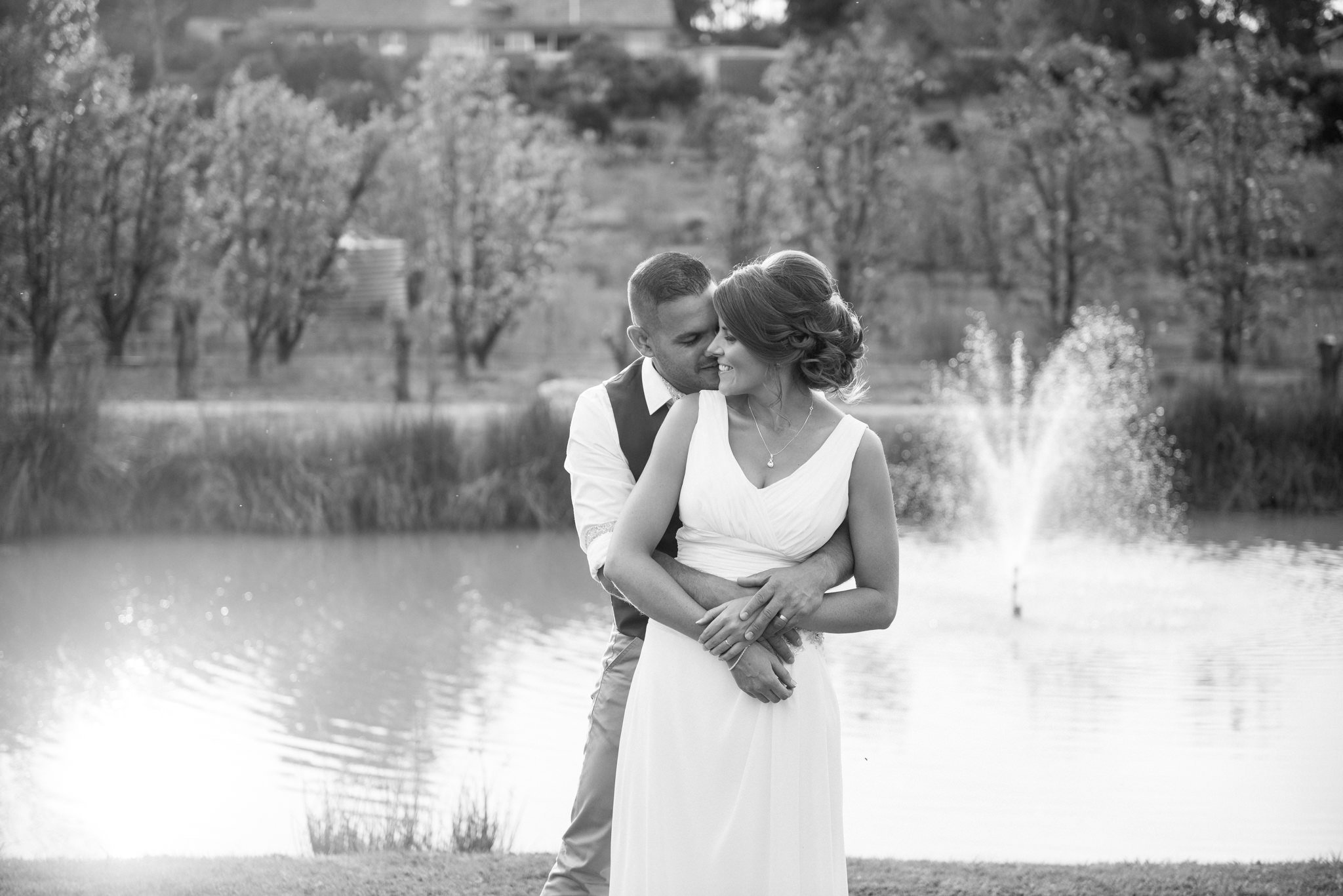 newlyweds black & white