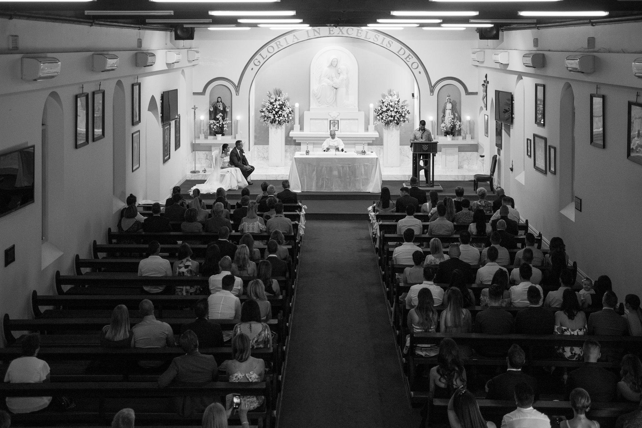 church wedding form above