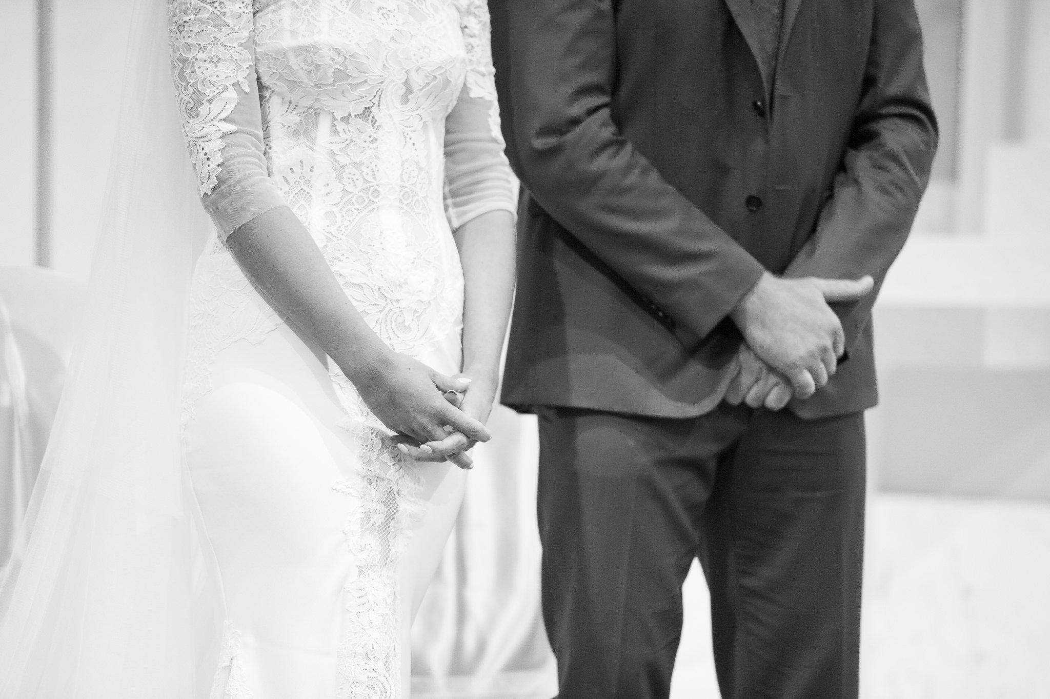 bride and groom hands