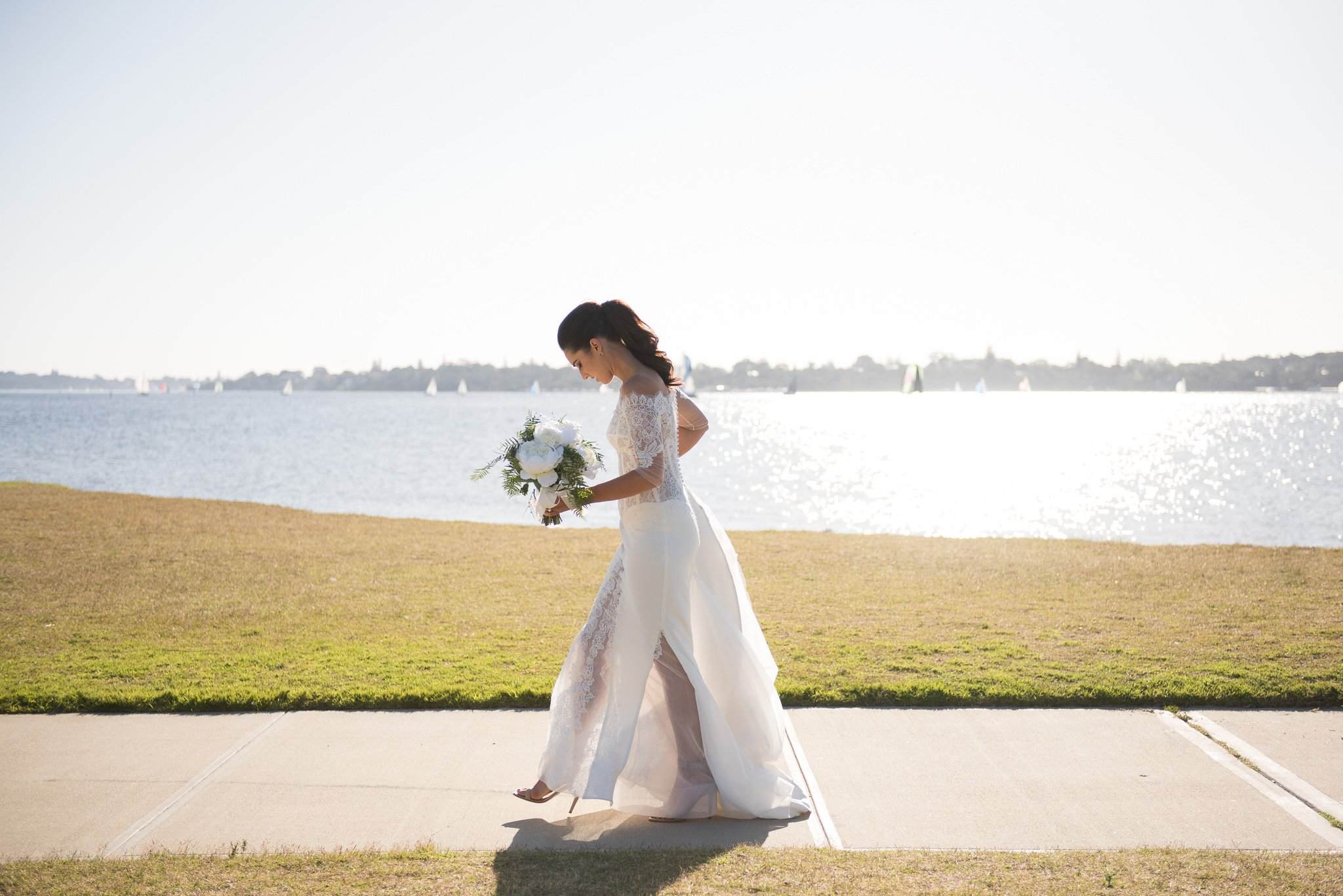 bride at parklands by the swan river