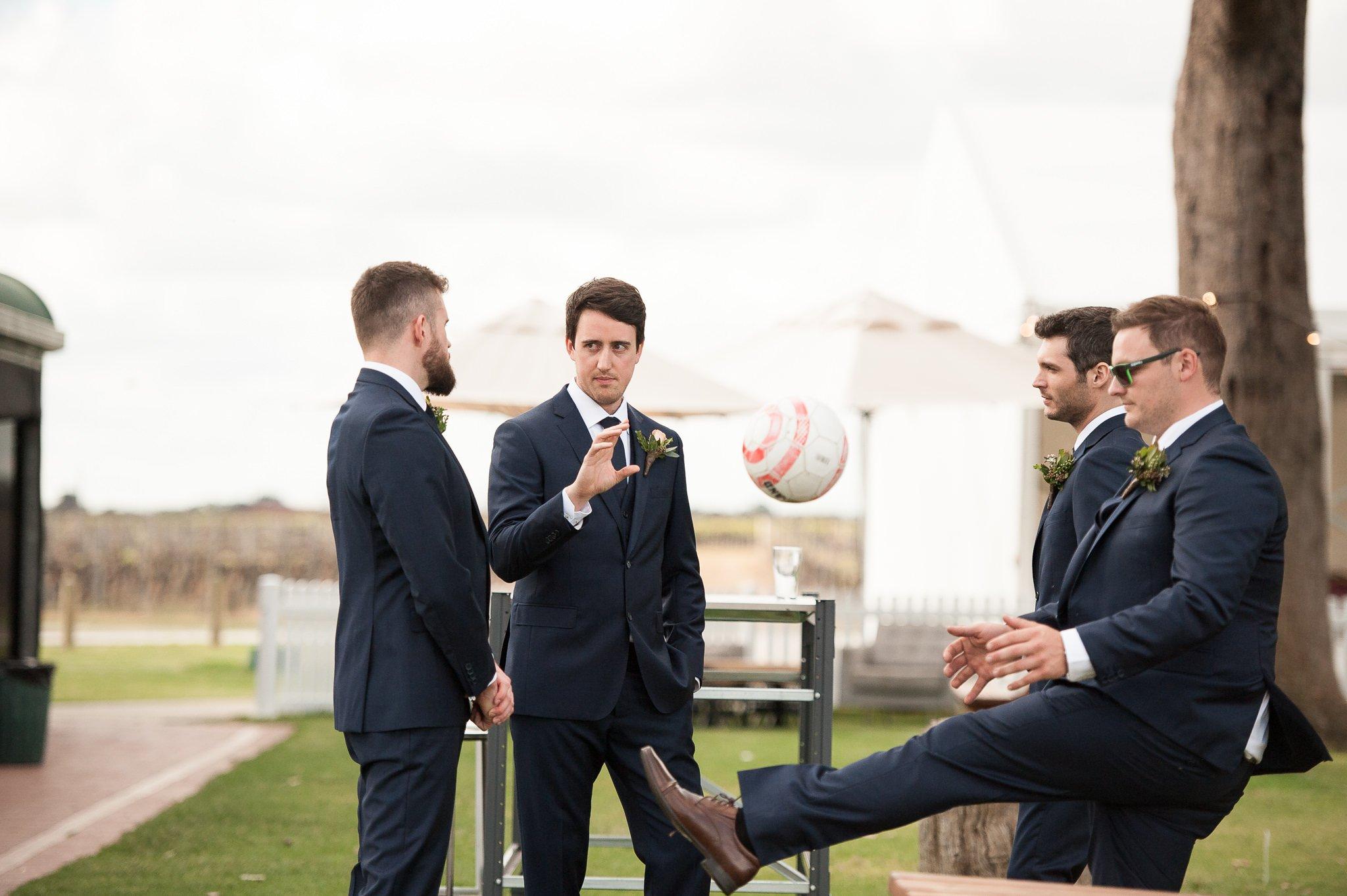grooms men waiting