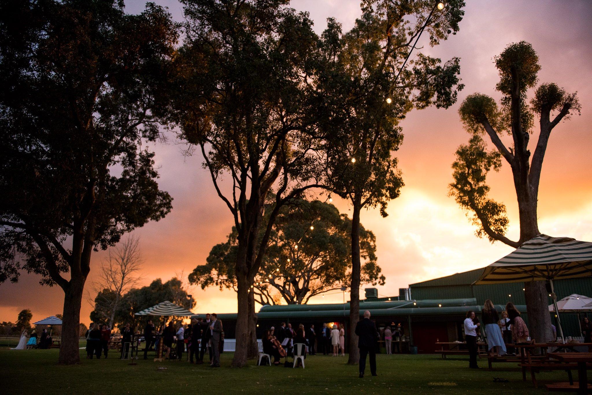 Oakover grounds in sunset