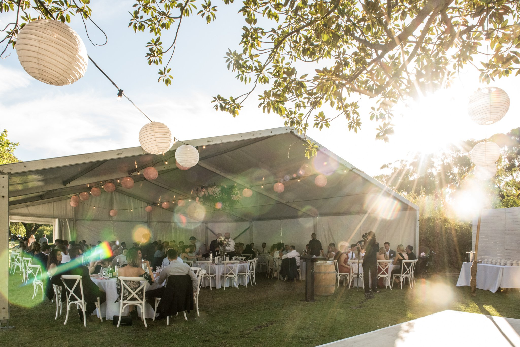 Matilda bay marquee reception